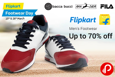 Flipkart Offer: Get upto 70% off on Men's Footwears