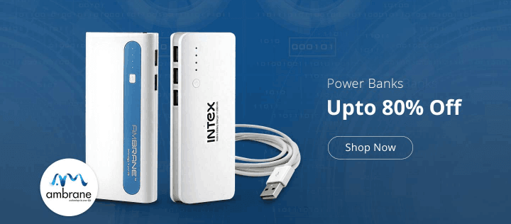 ShopClues  Offer : Get upto 80% off on Power Banks