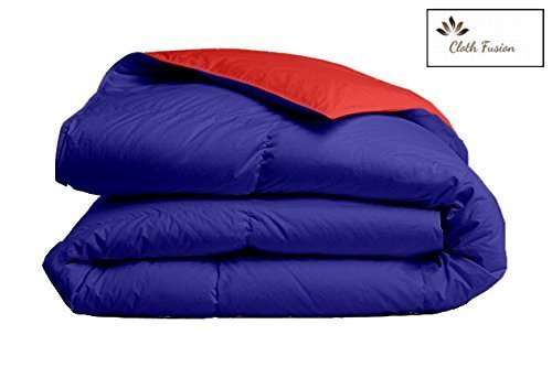 Amazon Offer : Buy Reversible AC Double Bed Comforter/Blanket/Quilt/Duvet For Winters- Red &Navy Blue at Rs.1,699.00