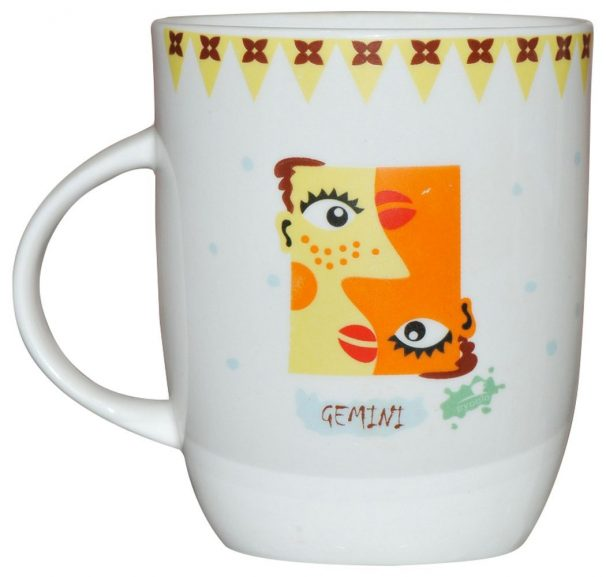 Milk Mug, 350ml/5.7cm, Multicolour @ Rs.68