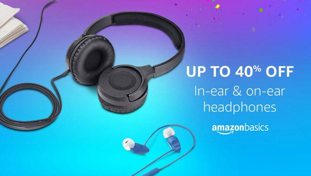 Amazon Offer : Get upto 40% off on Earphones