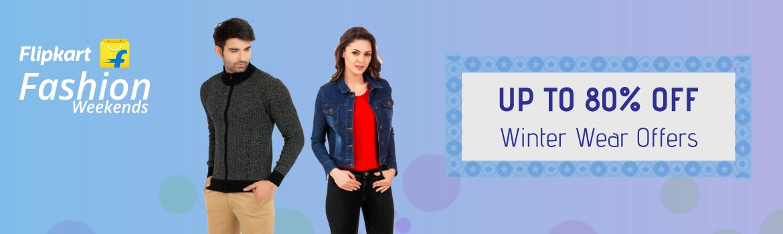 Flipkart Offer : Get upto 80% off on Winter Wear