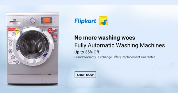Flipkart Offer : Get upto 30% off on Washing Machine
