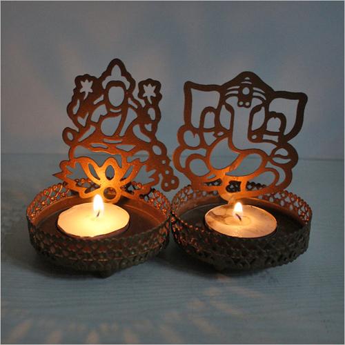 Shopclues Offer : Shadow Diya- Laxmi Ganesh, Set of 2 at Rs.199