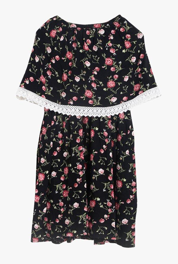 TataCliQ Offer : Bella Moda Black Printed Dress at Rs.524