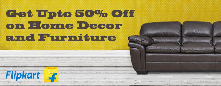 Flipkart  Offer : Get upto 50% off on Furniture