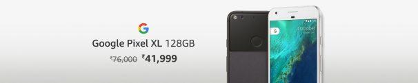 Google Pixel XL (Quite Black, 128 GB) @ Rs. 41,999