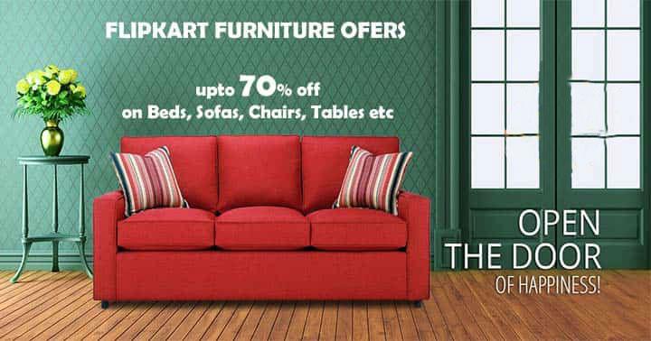 Flipkart Offer : Get upto 70% off on Sofa Sets