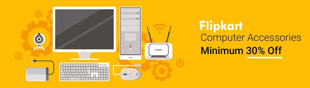 Flipkart  Offer : Get upto 30% off on Laptop Accessories