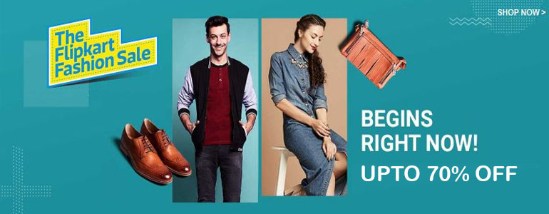 Flipkart Offer : Get upto 70% off on Men's Clothing
