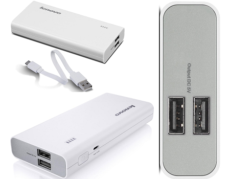 eBay Offer : Lenovo PA13000 13000mAh Powerbank (Refurnished) (White) at Rs. 1,039.00