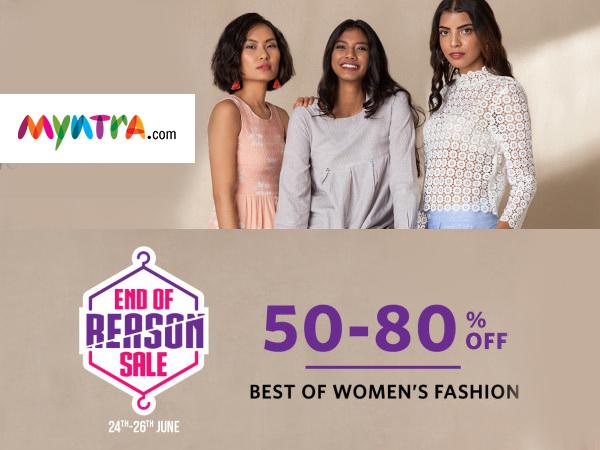 Myntra: Upto 80% Off on Women's Clothing