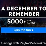 Nearbuy Offer : Get 15% Cashback on New Year Eve Party Deals
