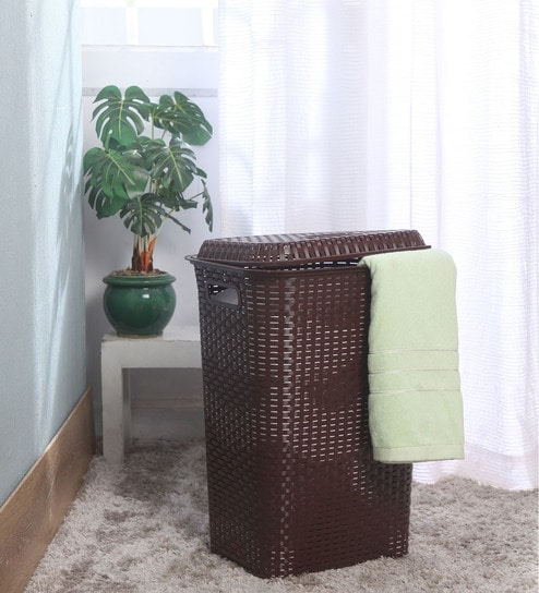 Pepperfry Offer : Buy Cello Eliza Plastic 50 L Brown Laundry Basket at Rs. 804