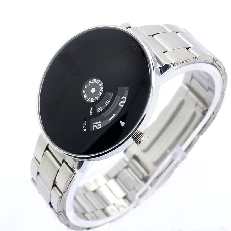 eBay India Offer : Buy 2016 new Unique Design Black Color Dial Steel Strap Mens Wrist Watch at Rs. 549