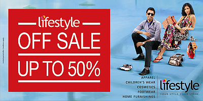 Lifestyle Offer : Get Rs.500 off on purchase of Rs.2499