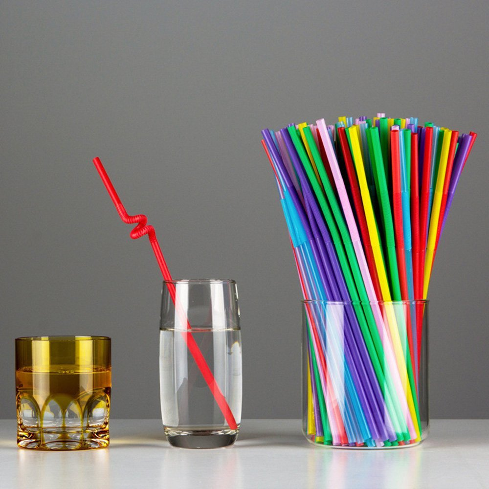 Amazon Offer:HOKIPO Bendable Neck Plastic Drinking Straws, 100 Pieces, Multicolor at Rs.206