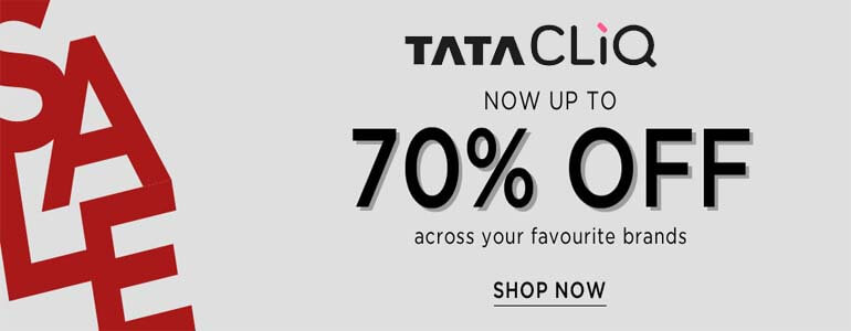 TATA CLiQ Offer : Get upto 70% off on T-shirts & Polos