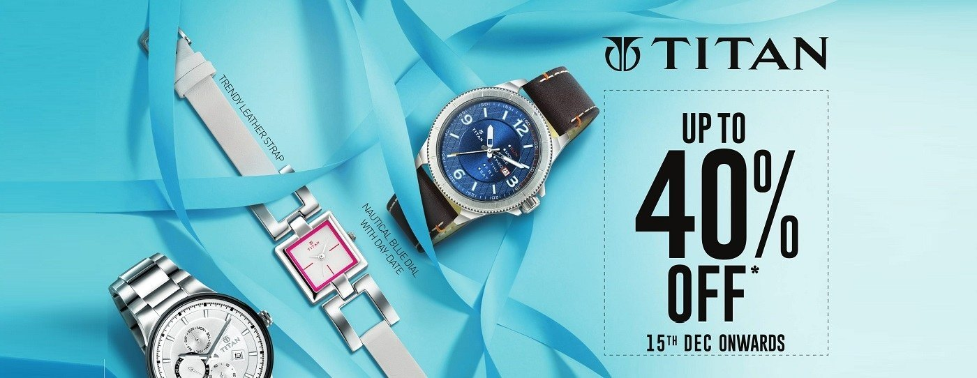 Tatacliq Offer : Buy Titan Brand Watches upto 40% OFF