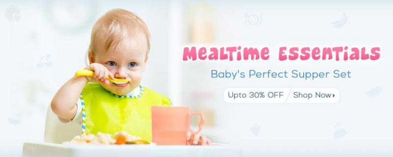 Firstcry Offer : Get 30% off on Meal time Essentials
