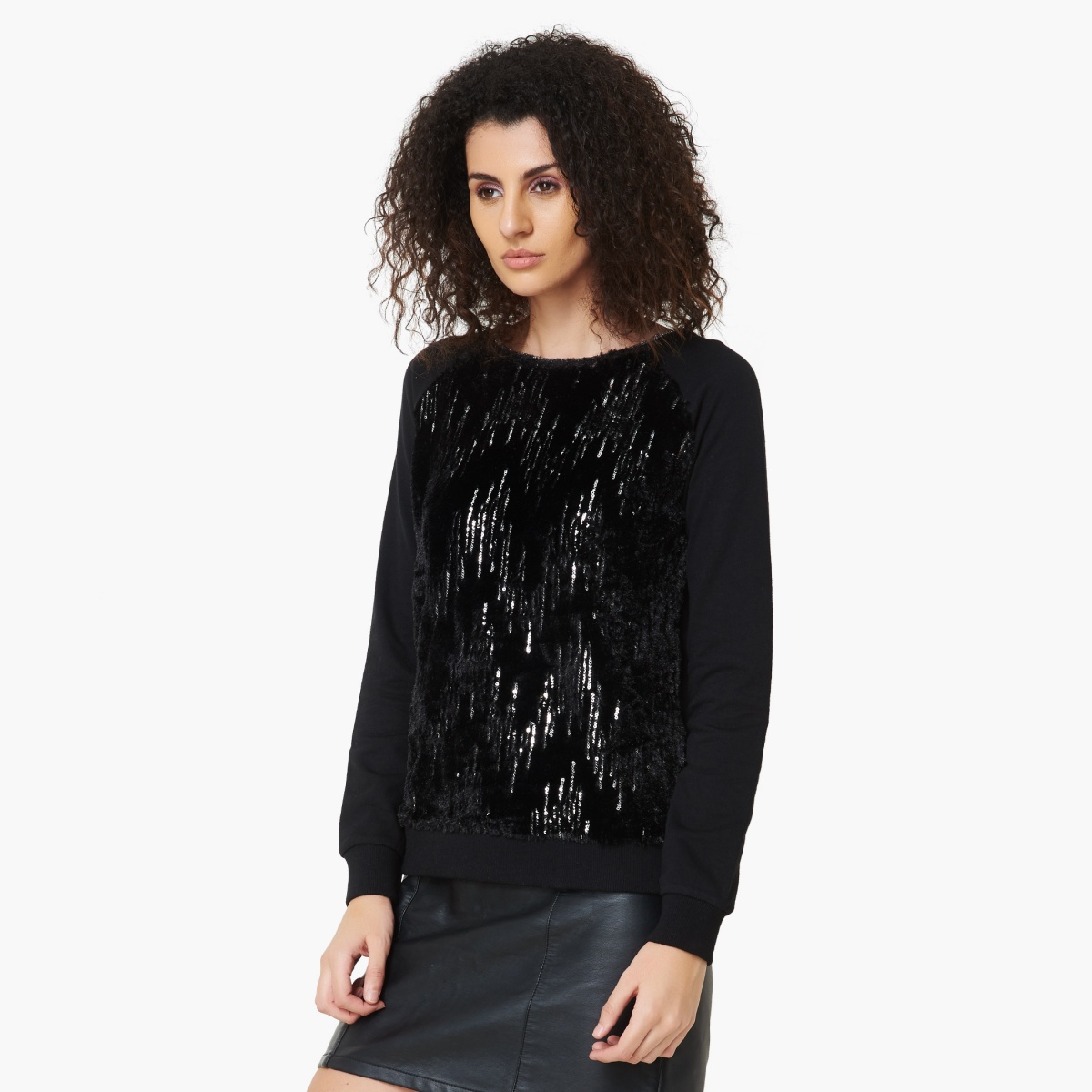 Max Fashion Offer : Sequined Full Sleeves Sweatshirt at Rs.699