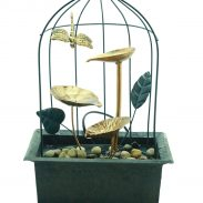 Myntra Offer : Importwala Gold-Toned & Black Bird Cage LED Fountain at Rs.2114