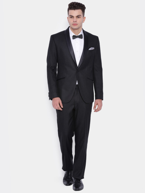 Myntra : SUITLTD Black Striped Single-Breasted Formal Suit at Rs.5173