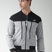 Myntra Offer : The North Face Men Grey Solid Bomber Jacket at Rs.4839