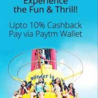 PayTM Offer : Get 10% cashback on Wonderla Hyderabad