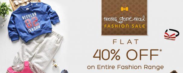 FirstCry : Get 40% off on Fashion Range