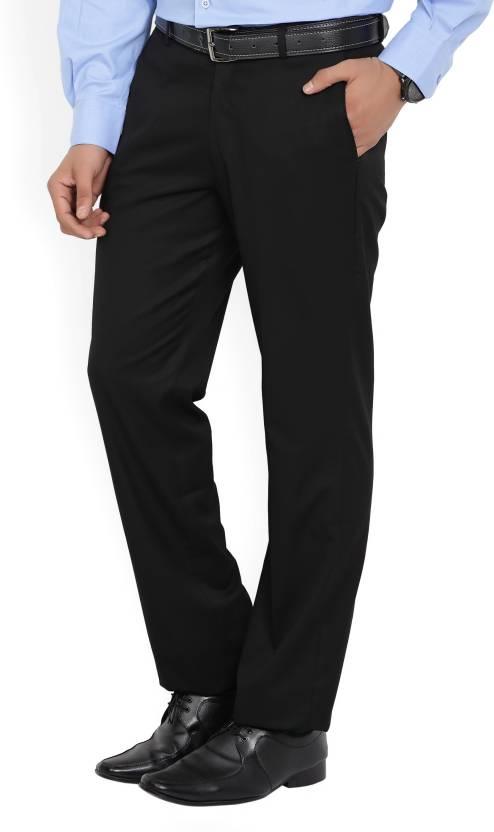 Flipkart Offer : John Players Regular Fit Men's Black Trousers at Rs.899