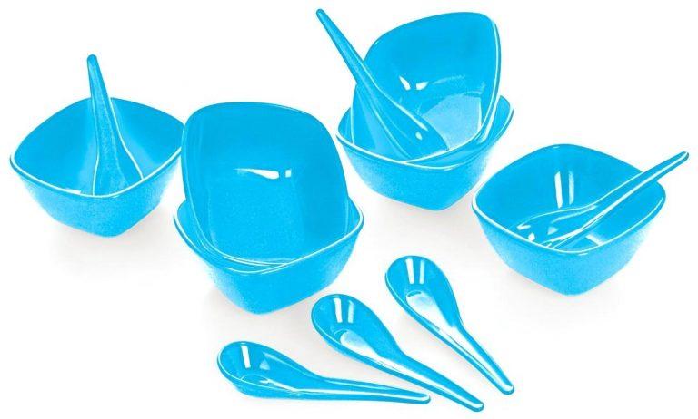 Amazon India : Cello Ware Square Soup Set, 12-Pieces, Blue at Rs.331