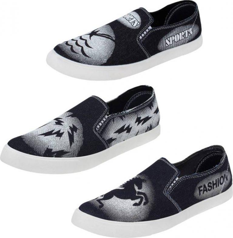 Flipkart : World Wear Footwear Combo Pack of 3 Pair-689+690+691 Loafers For Men  (Black) at Rs.268