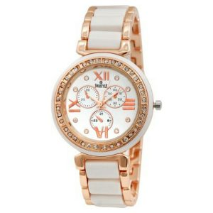 Amazon India : Swisstyle Analogue White Dial Womens Watch-Ss-Lr703-Wht-Ch at Rs.399