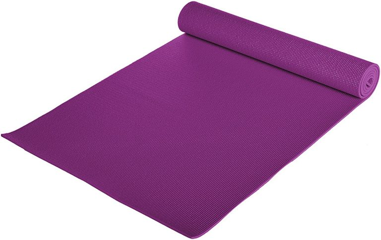 """Amazon India : AmazonBasics Yoga and Exercise Mat with Carrying Strap, 1/4"""" at Rs.619"""