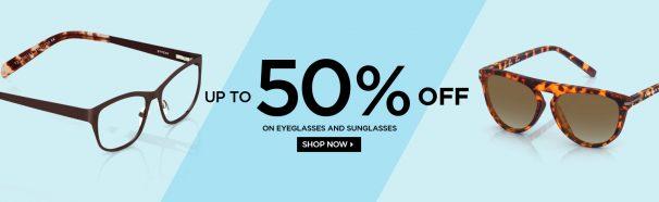 Titan Eyeplus : Get upto 50% off on Eyeglasses & Sunglasses