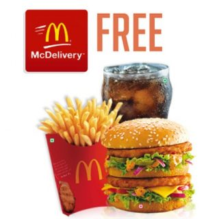 McDonalds Offer : Get a McChicken/McVeggie with Regular Coke free on purchase above Rs.275
