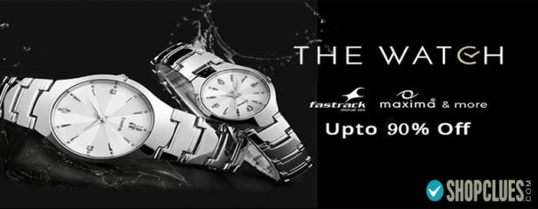 Shopclues ( Acche Din Sale ) Offer : Get upto 90% off on Men's Watches