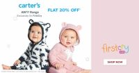 Firstcry : Get flat 20% off on Entire Carter's Range