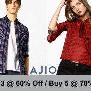 Ajio Offer : Buy 3 & Get 60% Off on Women's Fashion