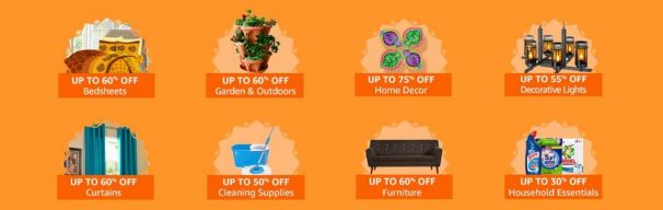Amazon India Offer : Get upto 30% off on Home Essentials
