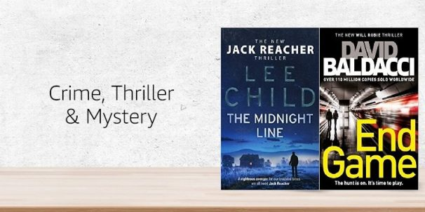 Amazon India Offer :Get upto 70% off on Crime, Thriller & Mystery Books