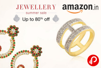 Amazon India Offer : Get upto 80% off on Jewellery