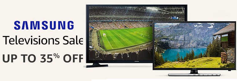 Amazon Offer : Get upto 35% off on Samsung TVs