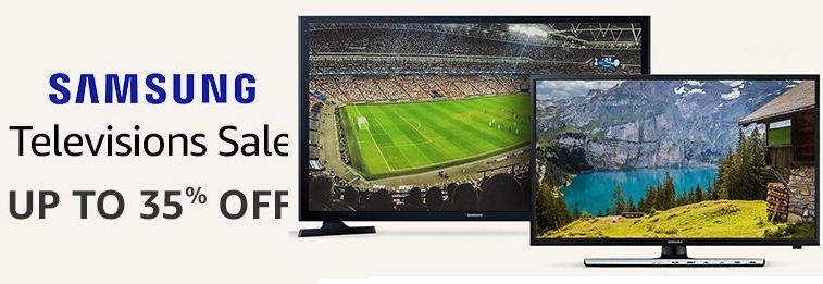 Amazon Offer : Get upto 35% off on Samsung TVs