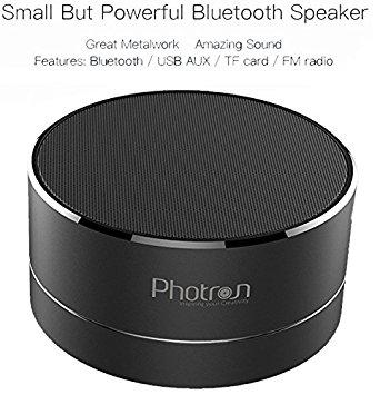 Amazon Offer : Photron P10 Wireless 3W Super Bass Mini Metal Aluminium Alloy Portable Bluetooth Speaker with Mic, LED Light, Micro SD Card Slot, FM Radio, AUX Mode, Black at Rs.690
