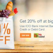 Bigbasket Offer : Get upto 20% off on Foods