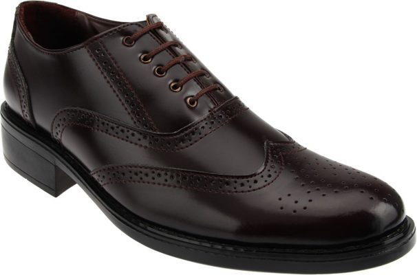 Limeroad Offer : Brown Leatherette Brouges at Rs.3399 (Buy 1 Get 2 Free Offer)