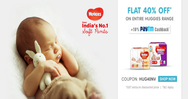 Firstcry Offer : Get 40% off on Huggies