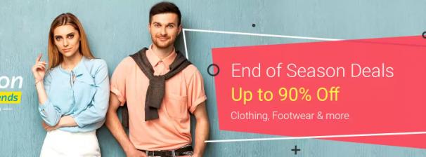 Flipkart ( Fashion EOSS Weekend ) Offer : Get upto 90% off on Fashion Essentials